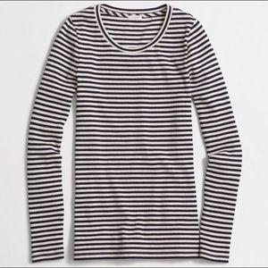 J. Crew Tops - J.Crew Factory Striped Ribbed Long-Sleeve T-Shirt
